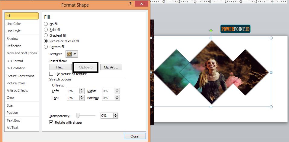 Membuat Slide Judul Menarik dengan Belah Ketupat_8