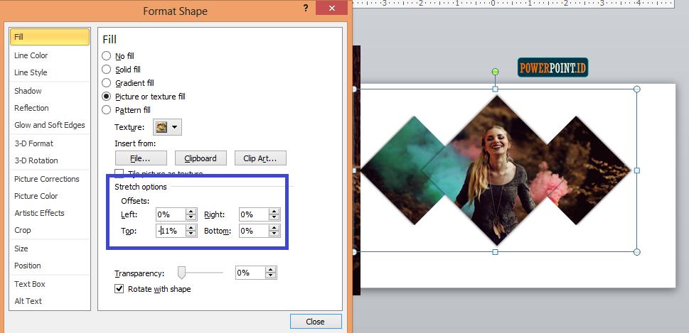 Membuat Slide Judul Menarik dengan Belah Ketupat_9
