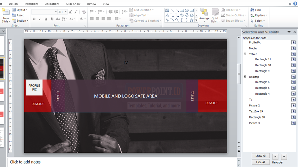 Membuat Youtube Channel Art Menggunakan PowerPoint_3